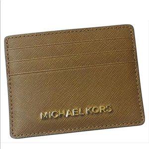 Michael Kors Tan Cardholder Wallet